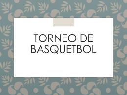 TORNEO DE BASQUETBOL JUVENIL