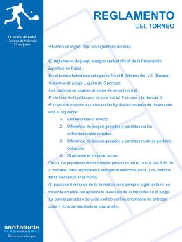 Reglamento del Torneo de Pádel de Valenc[...]