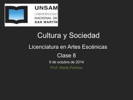 Clase 8 CyS - Cultura y Sociedad UNSAM
