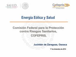 Energía Eólica y Salud (COFEPRIS)
