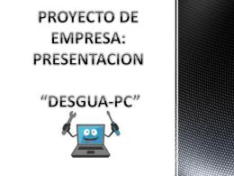 presentacion desguapc