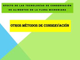 Otros métodos de conservación - FCQ