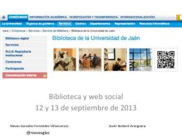 BibliotecaSocialJaen1 - Biblioteca y web social