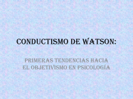 Conductismo de Watson: - uoc112-grupo8