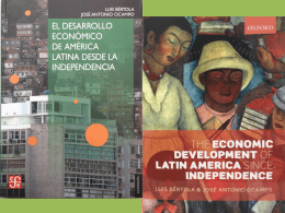 ECONOMIC DEVELOPMENT OF LATIN AMERICA 1. Long