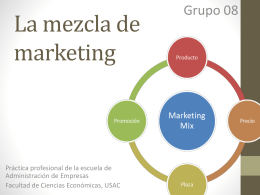 La mezcla de marketing