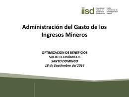 Administración del Gasto de los Ingresos Mineros Luke