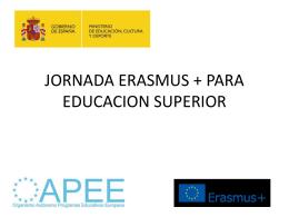 jornada erasmus + para educacion superior