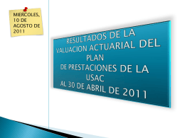 Valuación Actuarial power point