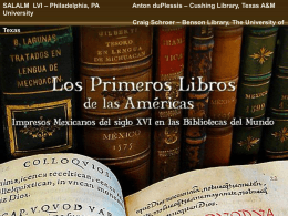 Primeros Libros: A Working Model of Institutional