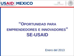 Oportunidad para emprendedores e innovadores