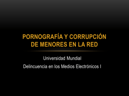 Corrupcion de menores en la red