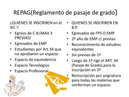 REPAG(Reglamento de pasaje de grado)