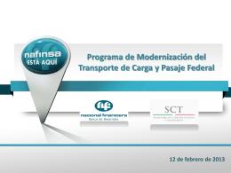 Programa de Modernización del Transporte de Carga y Pasaje