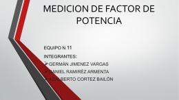 MEDICION DE FACTOR DE POTENCIA