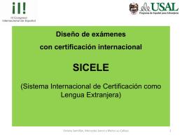 Diseño de exámenes con certificación internacional