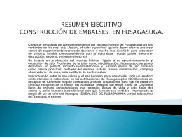 resumen ejecutivo construcción de embalses en