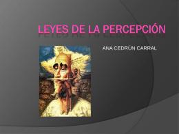 LEYES DE LA PERCEPCIÓN