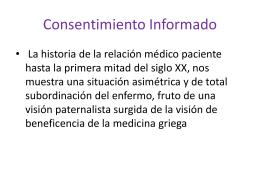 Consentimiento Informado - Asociación de Bioética y Derechos