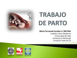 Trabajo de parto Dra. Maria Fernanda Escobar