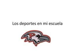 Los deportes en mi escuela