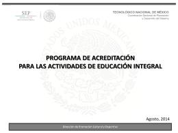 actividades de educación integral