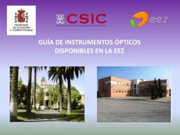 Guía de Instrumentos Ópticos Disponibles en la EEZ