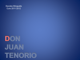 Don Juan - Escoles Minguella