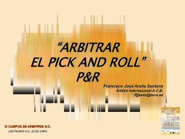ARBITRAR EL PICKROLL