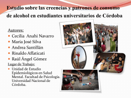 Patrones de Consumo de Alcohol en Jóvenes Universitarios, y