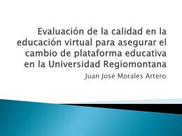 Evaluación de la calidad en la educación virtual para asegurar el