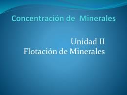4. Concentración de minerales II, PPT