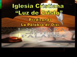 la persona del espiritu santo - Iglesia Cristiana Luz de Cristo
