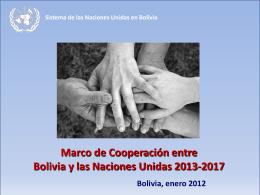 Marco de Cooperación entre Bolivia y Naciones Unidas
