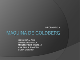 MAQUINA DE GOLDBERG - Portafolio de Evidencias