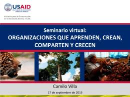 Seminario virtual: ORGANIZACIONES QUE APRENDEN, CREAN