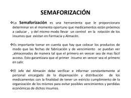 Semaforización en Almacenes y Farmacias