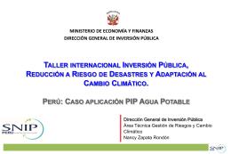 Evaluación de RRD en proyectos Perú