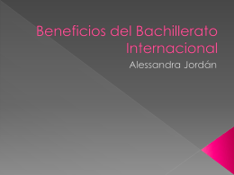 Beneficios del Bachillerato Internacional