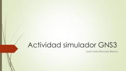 Actividad simulador GNS3