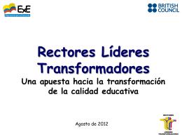 Presentación programa: Rectores Lideres Transformadores