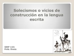 Solecismos o vicios de construcción