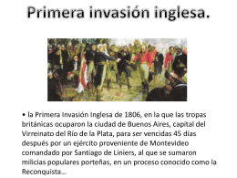 Primera invasión inglesa.