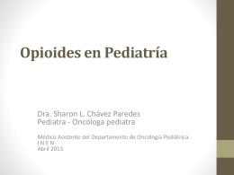 uso de opioides en pediatria