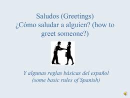 Cómo saludarle a alguien