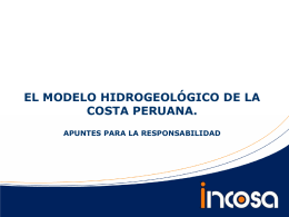 el modelo hidrogeológico de la costa peruana. i.