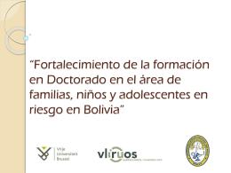 FORTALECIMIENTO DE LA FORMACIÓN EN - VLIR-UOS