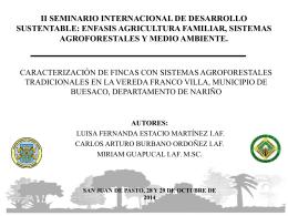 caracterización de sistemas agroforestales tradicionales en la