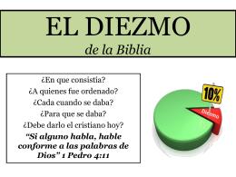 EL DIEZMO DE LA BIBLIA