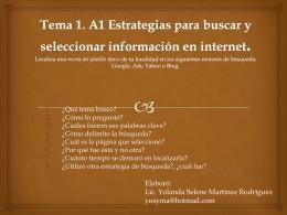 Tema 1 A1- Estrategias para buscar y seleccionar